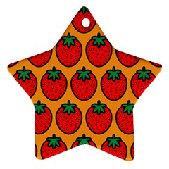 Strawberry Orange Ornament (Star)