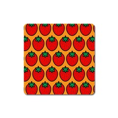 Strawberry Orange Square Magnet