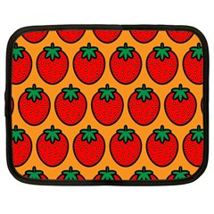 Strawberry Orange Netbook Case (Large)