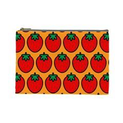 Strawberry Orange Cosmetic Bag (Large)