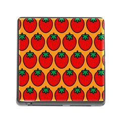 Strawberry Orange Memory Card Reader (square)