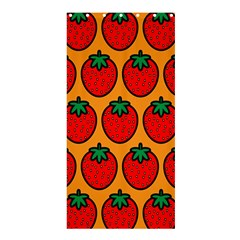 Strawberry Orange Shower Curtain 36  x 72  (Stall)