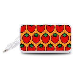 Strawberry Orange Portable Speaker (White)