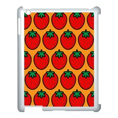 Strawberry Orange Apple iPad 3/4 Case (White)