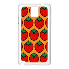 Strawberry Orange Samsung Galaxy Note 3 N9005 Case (White)