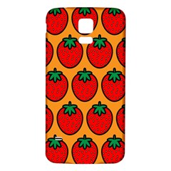Strawberry Orange Samsung Galaxy S5 Back Case (White)