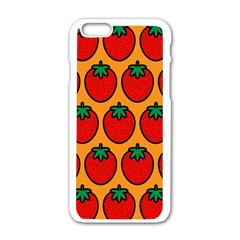 Strawberry Orange Apple iPhone 6/6S White Enamel Case