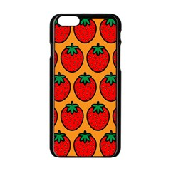 Strawberry Orange Apple iPhone 6/6S Black Enamel Case