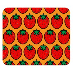 Strawberry Orange Double Sided Flano Blanket (Small)