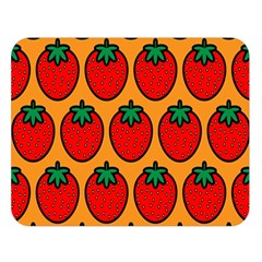 Strawberry Orange Double Sided Flano Blanket (Large)