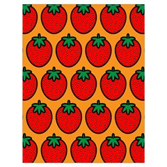 Strawberry Orange Drawstring Bag (Large)