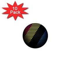 Techno Music 1  Mini Buttons (10 pack)