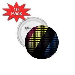 Techno Music 1.75  Buttons (10 pack)