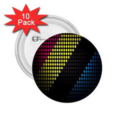 Techno Music 2.25  Buttons (10 pack)