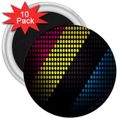 Techno Music 3  Magnets (10 pack)