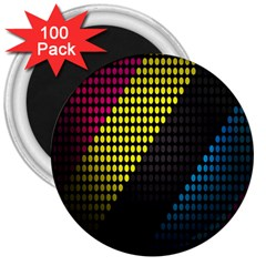 Techno Music 3  Magnets (100 pack)
