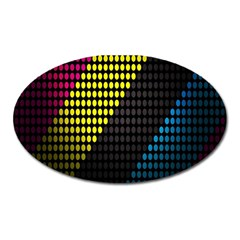Techno Music Oval Magnet