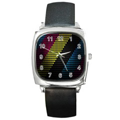 Techno Music Square Metal Watch