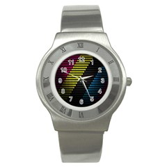 Techno Music Stainless Steel Watch