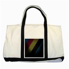 Techno Music Two Tone Tote Bag