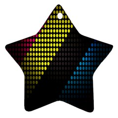 Techno Music Star Ornament (Two Sides)
