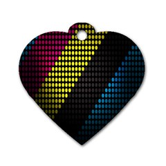 Techno Music Dog Tag Heart (One Side)