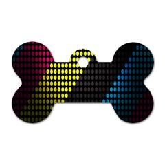 Techno Music Dog Tag Bone (One Side)