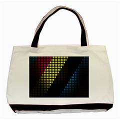 Techno Music Basic Tote Bag (Two Sides)