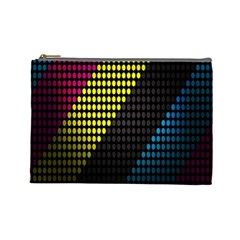Techno Music Cosmetic Bag (Large)