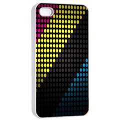 Techno Music Apple iPhone 4/4s Seamless Case (White)