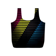 Techno Music Full Print Recycle Bags (S)