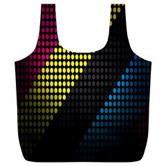 Techno Music Full Print Recycle Bags (L)