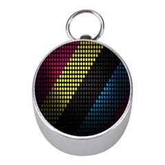 Techno Music Mini Silver Compasses