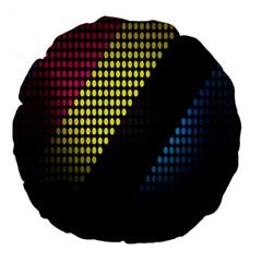 Techno Music Large 18  Premium Flano Round Cushions