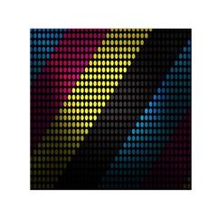 Techno Music Small Satin Scarf (Square)