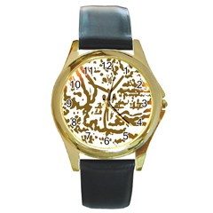 The Dance Round Gold Metal Watch