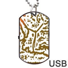 The Dance Dog Tag USB Flash (Two Sides)