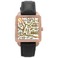 The Dance Rose Gold Leather Watch