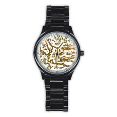 The Dance Stainless Steel Round Watch