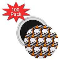 Sitwhite Cat Orange 1.75  Magnets (100 pack)