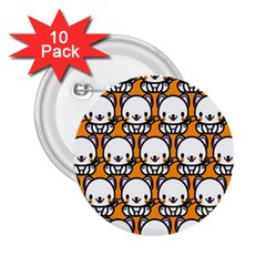 Sitwhite Cat Orange 2.25  Buttons (10 pack)