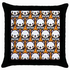 Sitwhite Cat Orange Throw Pillow Case (Black)