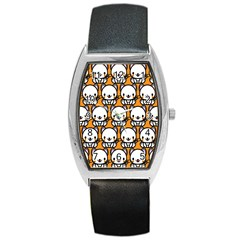 Sitwhite Cat Orange Barrel Style Metal Watch