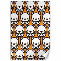 Sitwhite Cat Orange Canvas 20  x 30