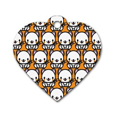 Sitwhite Cat Orange Dog Tag Heart (Two Sides)
