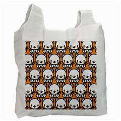 Sitwhite Cat Orange Recycle Bag (Two Side)