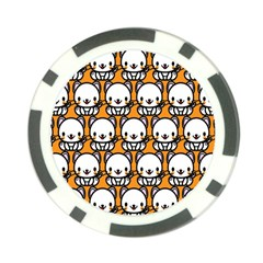 Sitwhite Cat Orange Poker Chip Card Guards (10 pack)