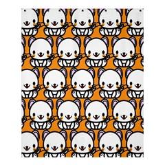 Sitwhite Cat Orange Shower Curtain 60  x 72  (Medium)