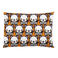 Sitwhite Cat Orange Pillow Case (Two Sides)