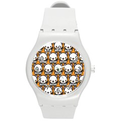 Sitwhite Cat Orange Round Plastic Sport Watch (M)